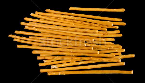 Izolált fekete étel háttér kenyér reggeli Stock fotó © oorka