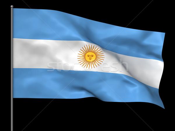Argentinian flag Stock photo © oorka
