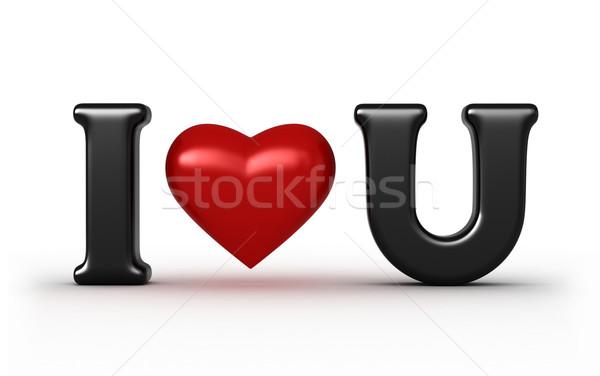 любви 3d визуализации аннотация подпись фон черный Сток-фото © oorka