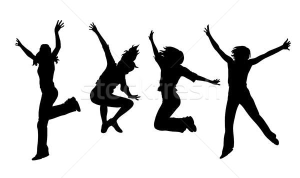 Springen meisjes abstract jonge teen tiener Stockfoto © oorka