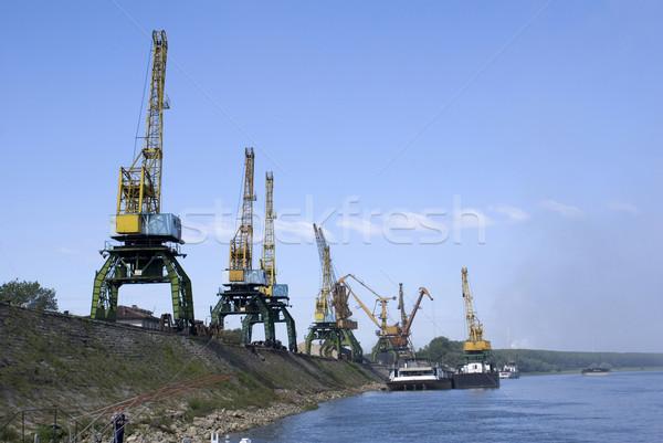 Duna folyó kikötő víz ipari állvány Stock fotó © oorka
