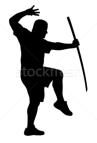 Man with bokken Stock photo © oorka