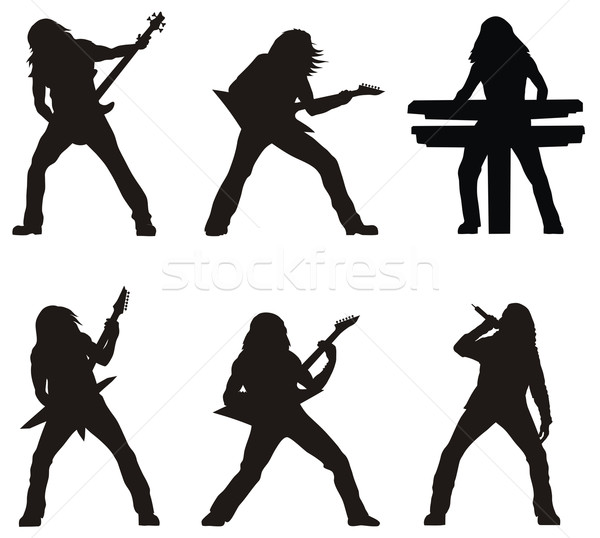 Rock musicians Stock photo © oorka