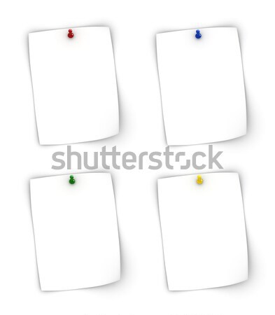 Jegyzetek színes háttér kék piros fehér Stock fotó © oorka