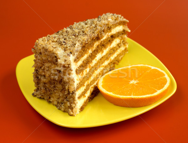 Walnut cake Stock photo © oorka