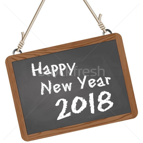 Stock fotó: Iskola · új · év · üdvözlet · szöveg · boldog · új · évet · fa