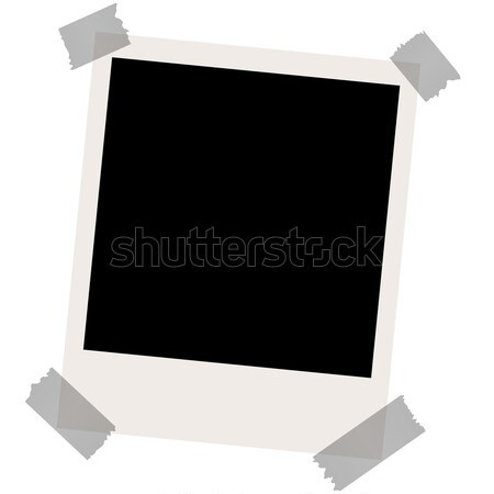 dirty old photo with adhesive stripes Stock photo © opicobello