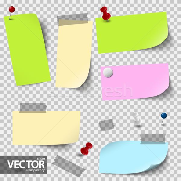 Boş renkli kağıtları vektör şeffaflık Stok fotoğraf © opicobello