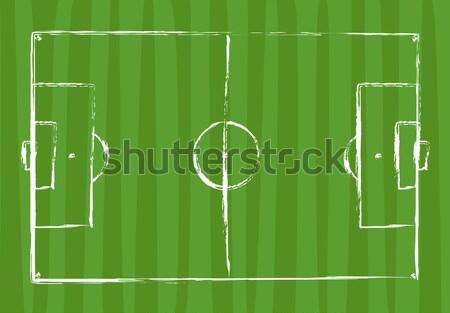 Campo de futebol grunge desenho futebol abstrato branco Foto stock © opicobello