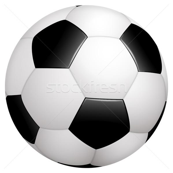 サッカー クラシカル 黒白 スポーツ チーム ボール ストックフォト © opicobello