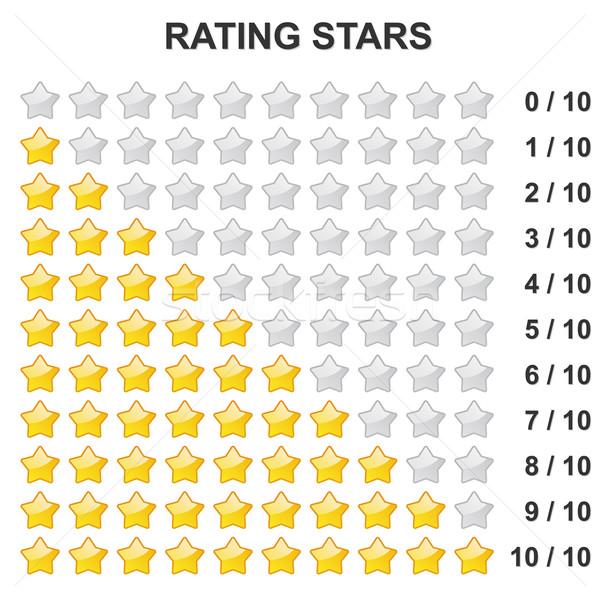 Stock photo: Rating Stars - 0 to 10