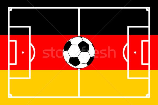 football field GERMAN background - vector illustration Stock photo © opicobello