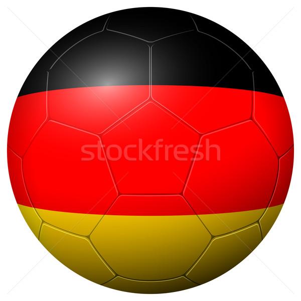 Soccer football - country flag GERMANY Stock photo © opicobello