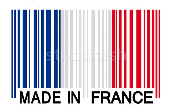 Barcode Frankrijk Europa land verkoop kwaliteit Stockfoto © opicobello