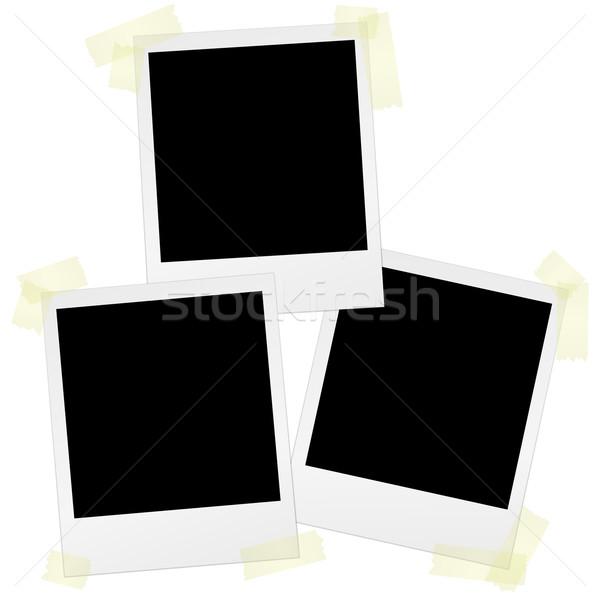 Bant arka plan uzay fotoğraf dikkat notepad Stok fotoğraf © opicobello