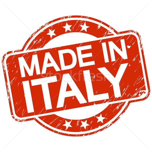 赤 スタンプ イタリア 文字 ビジネス サービス ストックフォト © opicobello