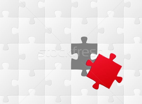 Stock photo: the wrong puzzle piece