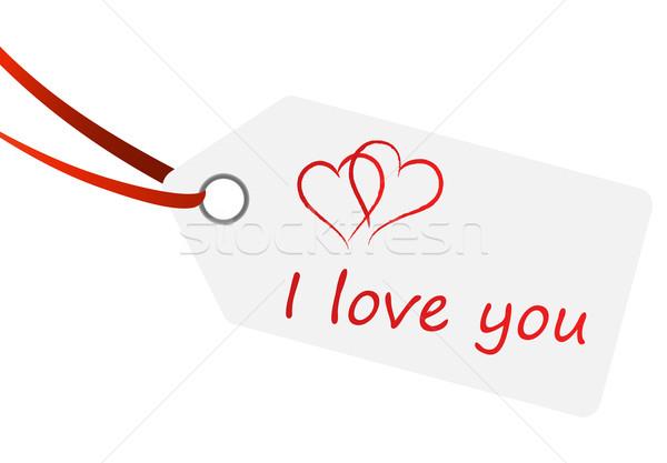 Testo amore abstract cuore segno regalo Foto d'archivio © opicobello