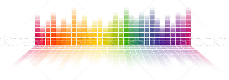 Végtelenített digitális hangszínszabályozó szivárvány színes gradiens Stock fotó © opicobello