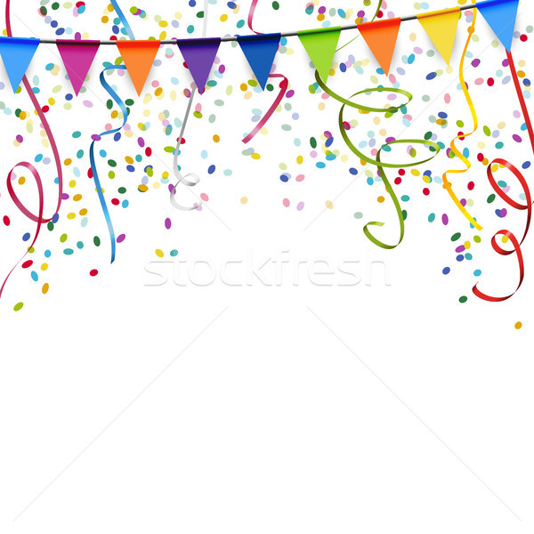 garlands, streamers and confetti background Stock photo © opicobello