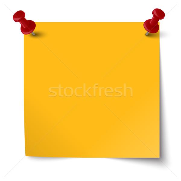 colored note with pin needle Stock photo © opicobello