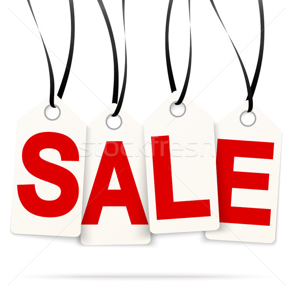 Stock photo: four hangtags with SALE