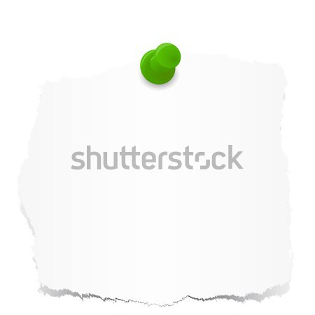 Scraps of paper with pin Stock photo © opicobello
