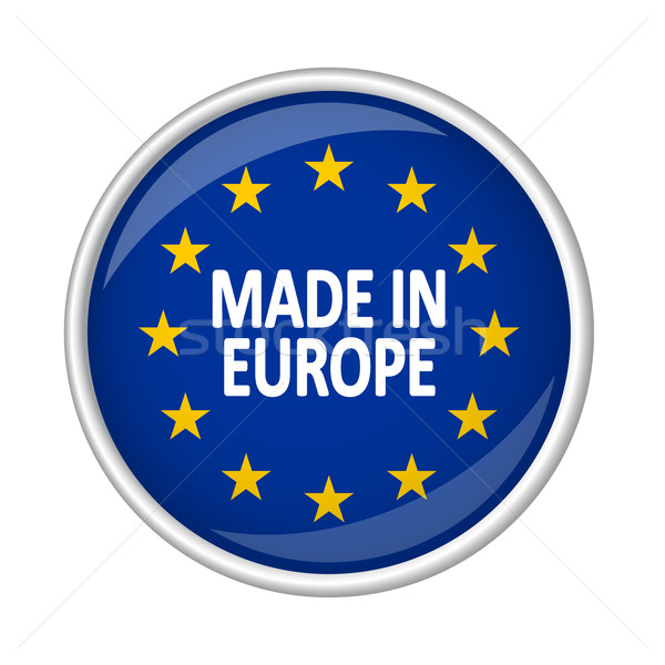 Button - MADE IN EUROPE Stock photo © opicobello