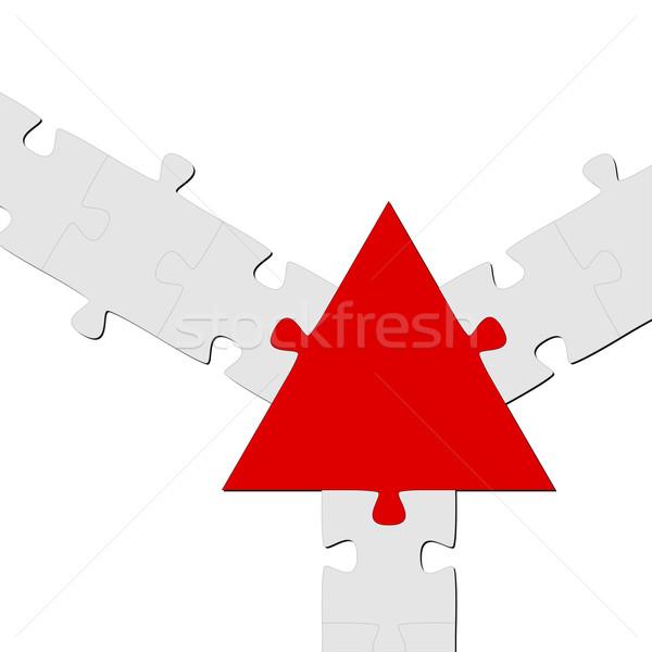 Puzzle związku zespołowej symbolizm streszczenie most Zdjęcia stock © opicobello