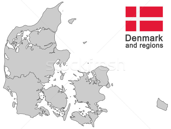 country Denmark and regions Stock photo © opicobello