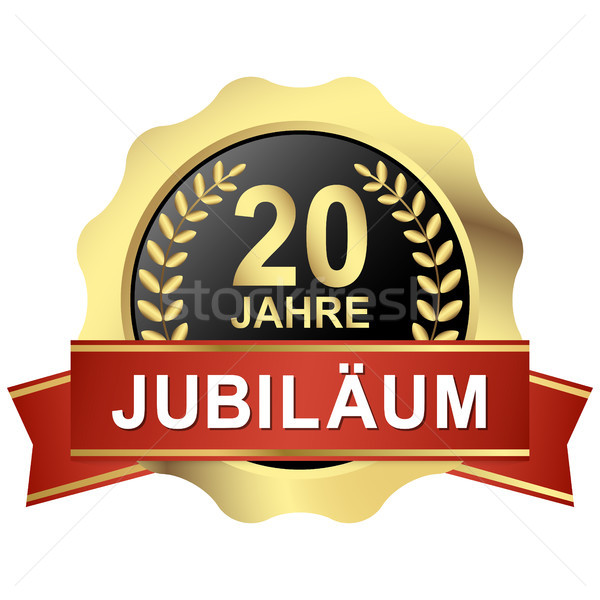 button 20 years jubilee (in german) Stock photo © opicobello