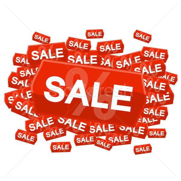 SALE on price tag Stock photo © opicobello