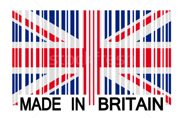 barcode - MADE IN BRITAIN Stock photo © opicobello