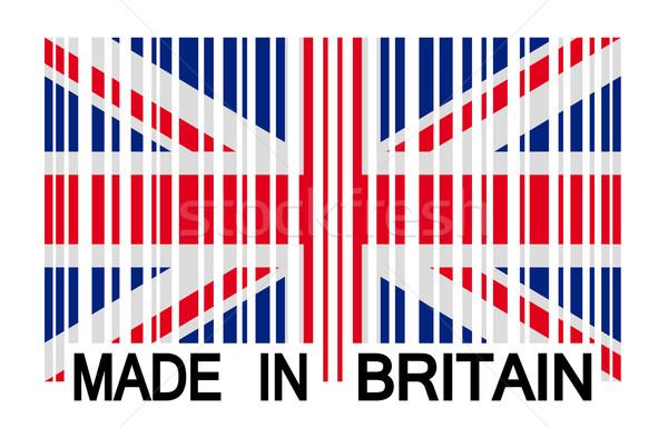 Vonalkód Nagy-Britannia vásárlás Európa vidék minőség Stock fotó © opicobello