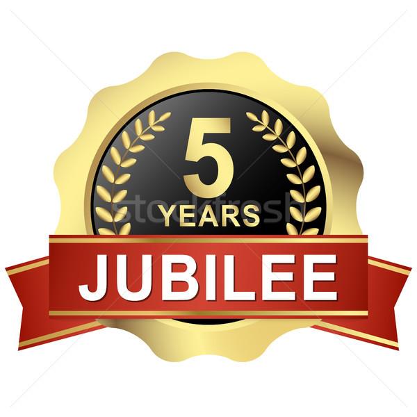 button 5 years jubilee Stock photo © opicobello