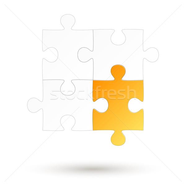 Puzzle - four parts - Yellow Option Stock photo © opicobello