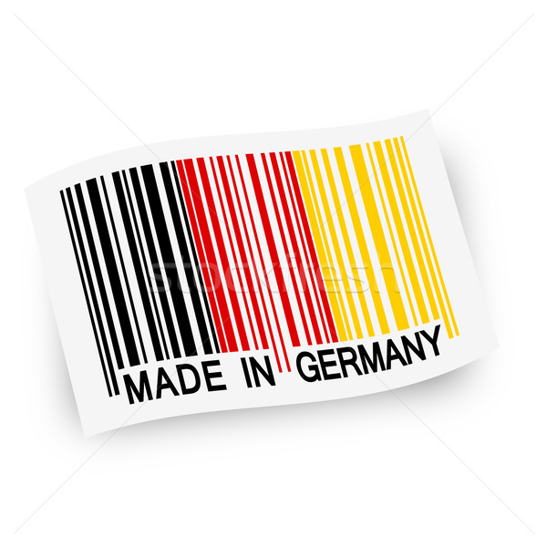 Flag with barcode -  MADE IN GERMANY Stock photo © opicobello