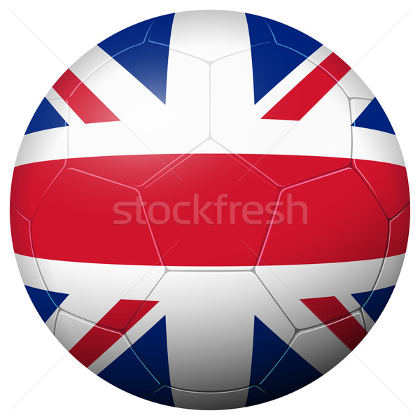 Soccer football - country flag GREAT BRITAIN Stock photo © opicobello