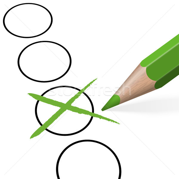 pencil with green cross Stock photo © opicobello