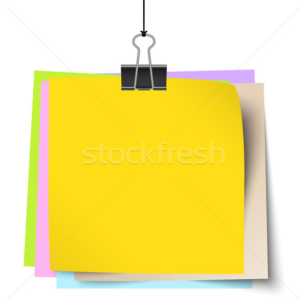 Pequeno documentos clipe vazio enforcamento Foto stock © opicobello