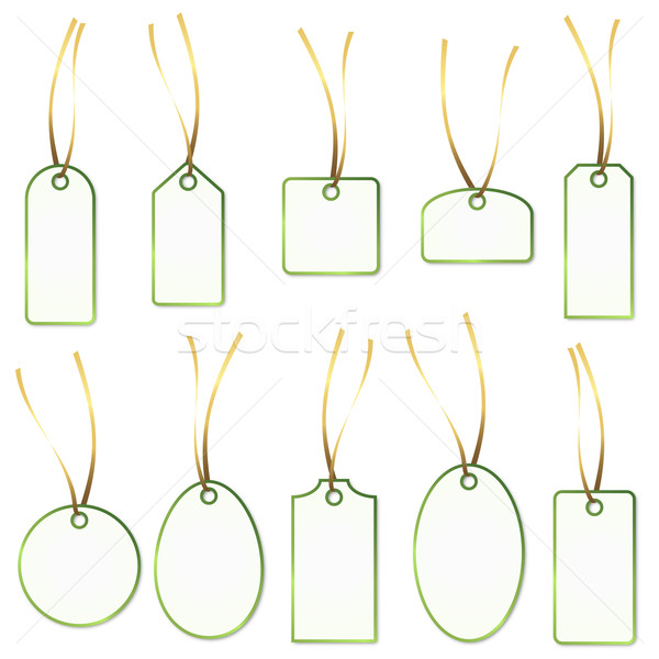 Pendant Collection - white and green Stock photo © opicobello