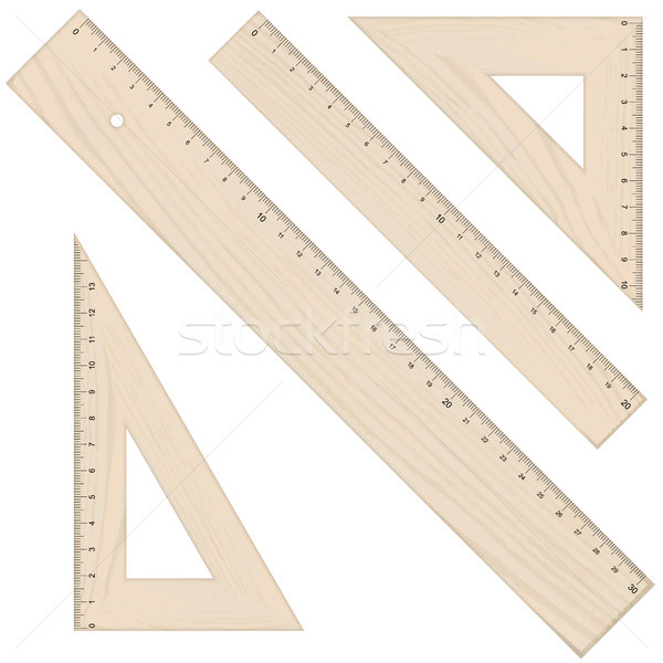 rulers and triangular Stock photo © opicobello