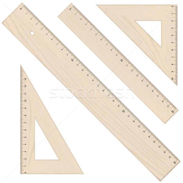 Raccolta quattro legno guardare isolato bianco Foto d'archivio © opicobello