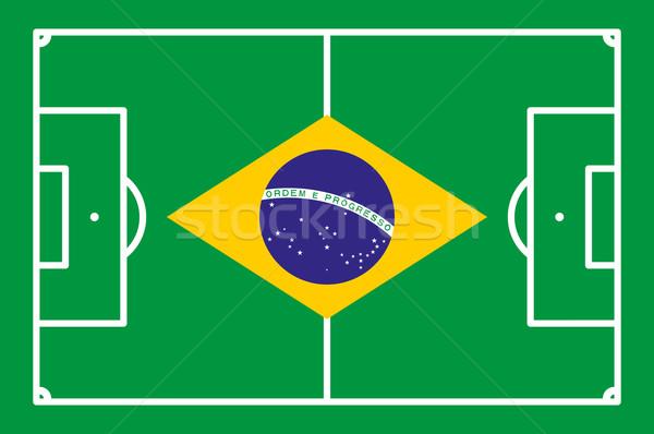 Futballpálya Brazília absztrakt háttér stadion színek Stock fotó © opicobello