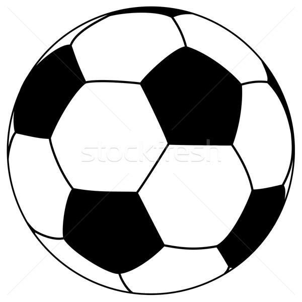 black-white football - simple vector illustration Stock photo © opicobello