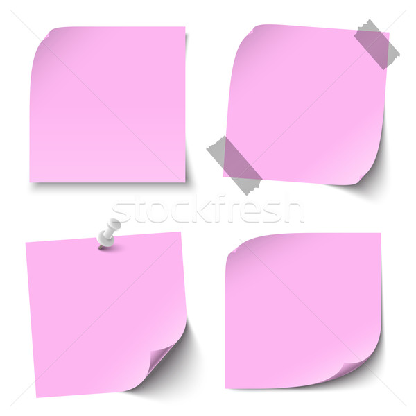 Collection of blank colored sticky notes Stock photo © opicobello