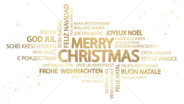 слово облако веселый Рождества текста различный Сток-фото © opicobello