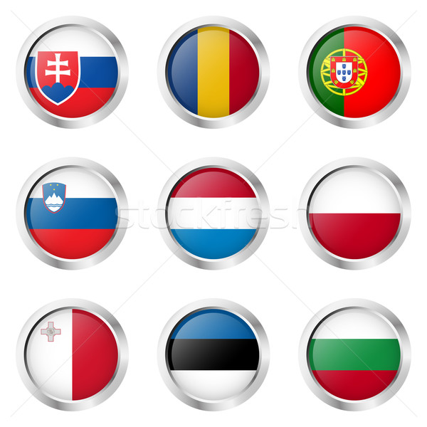 Country - Stickers: Portugal, Luxembourg, Poland, ... Stock photo © opicobello
