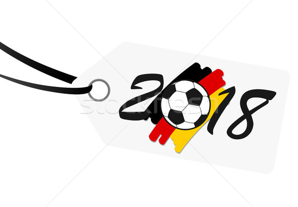 hangtag with lettering 2018 with german national colors Stock photo © opicobello