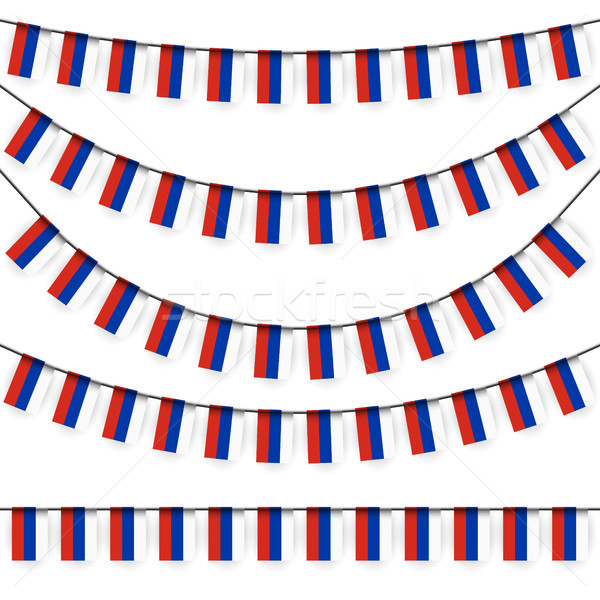 garlands with russian national colors Stock photo © opicobello